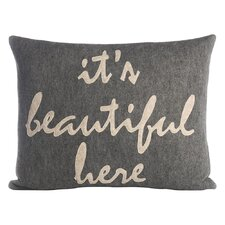 Celebrate Everyday It's Beautiful Here Throw Pillow