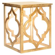 Milo End Table in Gold Leaf
