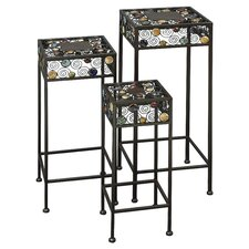 3 Piece Square Plant Stand Set