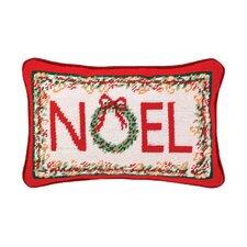 Needlepoint Noel Wool Throw Pillow