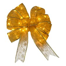 Bow Christmas Decoration with Dual Color® LED lights