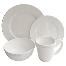 Carly Bead 16 Piece Dinnerware Set