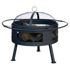 Metal Wood Outdoor Fireplace