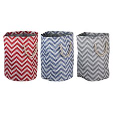 Chevron Barrel Hamper