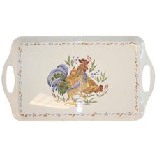 Country Morning Rectangular Serving Tray