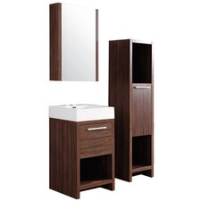 """Transitional 27"""" Vanity Set with Mirror"""
