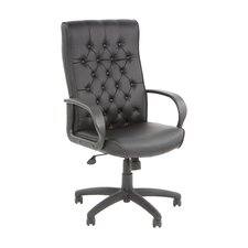 Adjustable High-Back Button Tufted Executive Chair