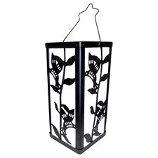 Reflection Hummingbird and Plant Lantern Color Change Solar Light