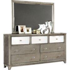 Aeline 7 Drawer Dresser with Mirror