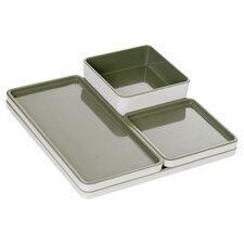 4 Piece Modular Food Serving Tray Set