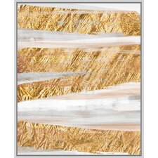 Abstract Gold Giclee Print on Canvas