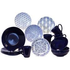 Blue & White 16 Piece Dinnerware Set