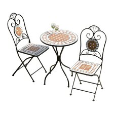 Diamond Mosaic 3 Piece Bistro Set