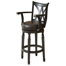 "Jennings 30.5"" Swivel Bar Stool with Cushion"