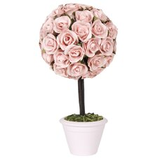 Rosebud Topiary in Ceramic Pot
