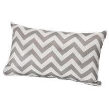 Chevron Outdoor Lumbar Throw Pillow