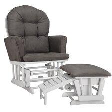 Parker Semi Upholstered Nursing Glider & Ottoman