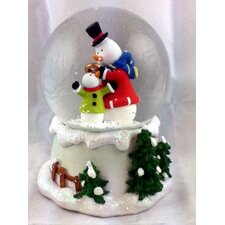 Snowman and Snowchild Musical Waterglobe