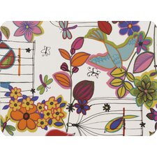 Flower and Bird Laminated Placemat (Set of 2)