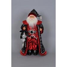 Christmas Crystal Elegance Santa Figurine