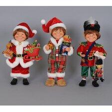 Christmas 3 Piece Traditional Elf Figurine Set