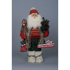 Christmas Ski Santa Figurine