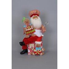 Christmas Gingerbread Magic Santa Figurine