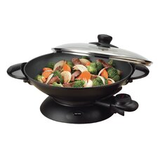 Professional Non-Stick Metal Wok with Lid
