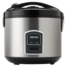Professional 20-Cup Stainless Steel Rice Cooker and Food Steamer