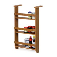 Wall Mount Spice Rack in Cherry