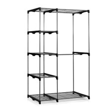 "Wayar 19"" D Double Rod Five Shelve Freestanding Closet"