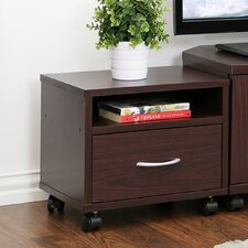 Indo Petite Under Desk Utility Cart with Casters