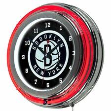 "14.5"" NBA Double Ring Neon Wall Clock"