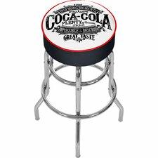 "Coca Cola Brazil 31"" Swivel Bar Stool with Cushion"