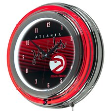 "NBA Hardwood Classics Double Ring Neon 14.5"" Wall Clock"