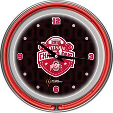 "OSU National Champions 14.5"" Neon Wall Clock"