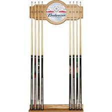 Budweiser Wood and Mirror Cue Rack