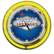 """Las Vegas 14"""" Wall Clock"""