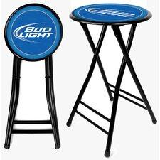 "Bud Light 24"" Bar Stool with Cushion"