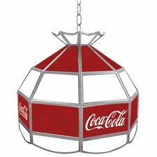 Coca Cola Vintage Stained Tiffany Lamp