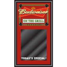 Budweiser BBQ Write on Menu  - On the Grill Wall Mounted Chalkboard, 1' x 2'