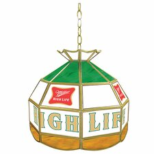"""Miller High Life 16"""" Stained Glass Tiffany Lamp"""