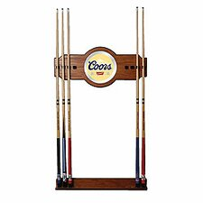 Coors Original Wood and Mirror Wall Cue Rack