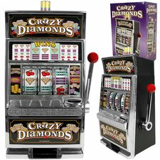 Crazy Diamonds Slot Machine Bank with 100 Tokens