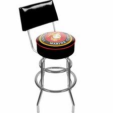 """United States Marine Corps 31"""" Swivel Bar Stool with Cushion"""