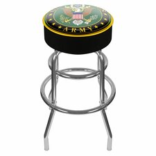 "U.S. Army 31"" Swivel Bar Stool with Cushion"