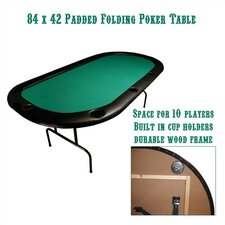 "Poker & Casino 84"" x 42"" Texas Hold'em Poker Table"