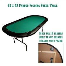 """Poker & Casino 84"""" x 42"""" Texas Hold'em Poker Table"""