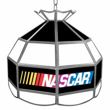 "NASCAR Tiffany Style 14"" H Table Lamp with Bowl Shade"