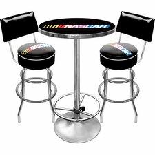 NASCAR Game Room 3 Piece Pub Table Set
